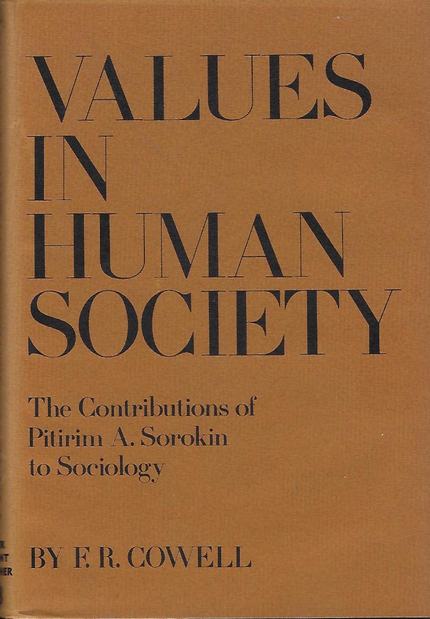 cover - Cowell, 'Values in Human Society'