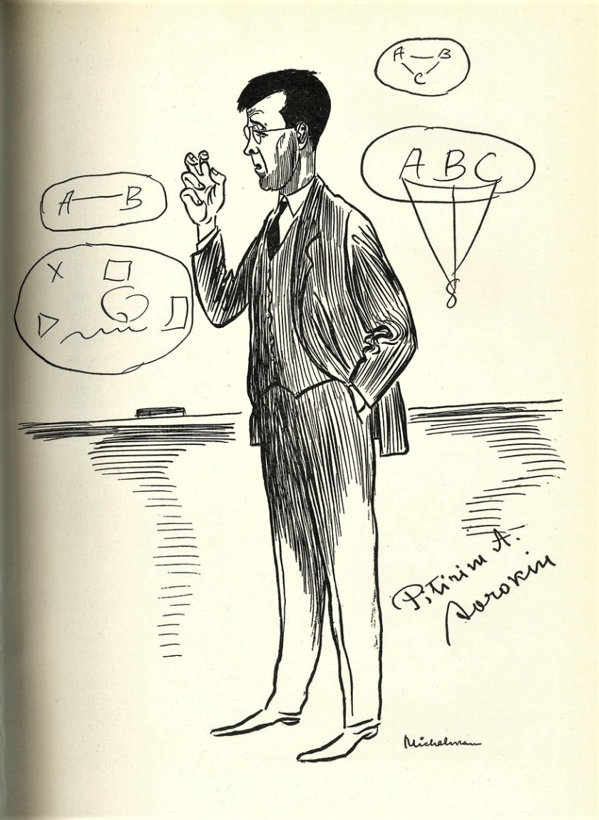 caricature of Sorokin - Havard Guardian, Nov 1937.jpg